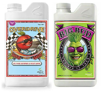 Advanced Nutrients Overdrive And Big Bud Flower Booster Bloom Enhancer