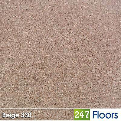 Beige 330 Dublin Heathers Flecked Feltback Carpet Twist Pile 4m & 5m Wide