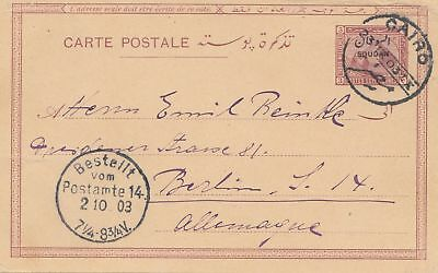 Egypt: post card 1903 to Berlin