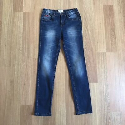 Girls Lee Cooper Size 12 Stretch Adjustable Waist Skinny Jeans Faded
