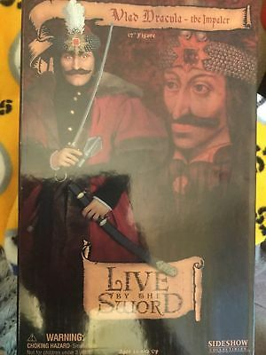 """Vlad Dracula The Impaler 12"""" Figure Live by the Sword 2004 Sideshow New In Box"""