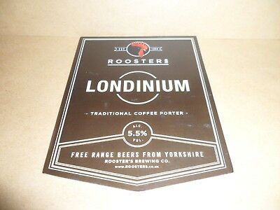 ROOSTERS londinium  Ale Beer Pump Clip Pub Bar Collectible man cave