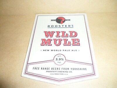 ROOSTERS WILD MULE Ale Beer Pump Clip Pub Bar Collectible man cave
