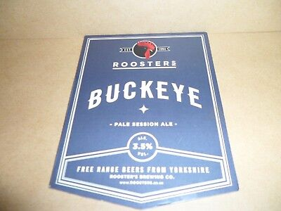 ROOSTERS BUCKEYE Ale Beer Pump Clip Pub Bar Collectible man cave