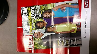 collector affiche paris match grd format special  OBAMA 2008 port offert