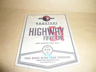 ROOSTERS HIGHWAY FIFTY ONE  Beer Pump Clip Pub Bar Collectible man cave