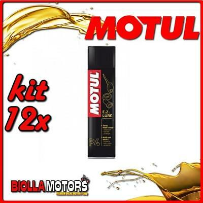 KIT 12X 400ML SPRAY LUBRIFICANTE MULTIUSO P4 EZ LUBE MOTUL 400 ML - 12x 102991