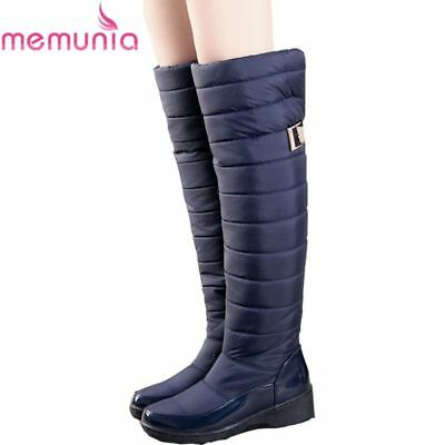 Fashion Women Winter Warm Flat Long Thigh Boot Over Knee High Boots Snow Shoes