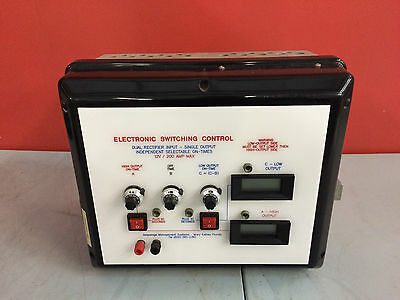 Amperage Management Systems Electronic Switching Control Dual Rectifier Input
