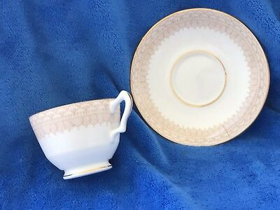 """Crown Staffordshire England Bone China Cup and Saucer """"Tassles &Tassles"""""""
