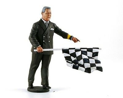 LeMans Miniatures 1:18 Figurine - 1950's to 1970's Director of Course with flag