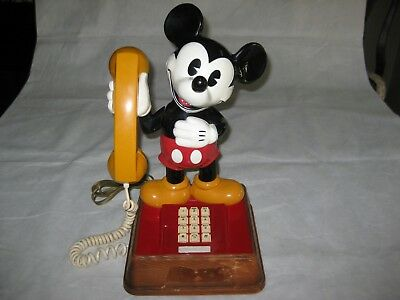 "1976 American Telecommunications Corp MICKEY MOUSE PHONE/TELEPHONE~15""~ubm8000"