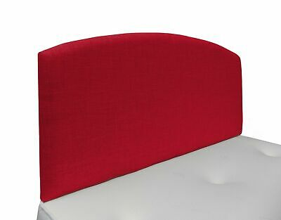Charlie Modern Curved Top Upholstered Linen Headboard  in Various Colours