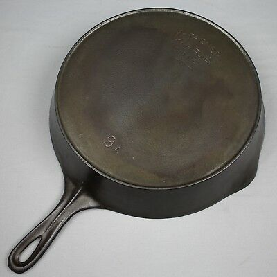 """Vintage Wagner Ware Sidney -O- Cast Iron Skillet No. 9A Heat Ring 11"""" Frying Pan"""