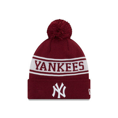 New Era New York Yankees Jake Neyyan Bobble Hat.mlb Mens Womens Knit Beanie 8W
