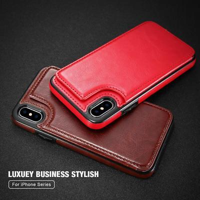 Leather Case For Iphone Card Holder Vertical Wallet Cases Back Cover Retro Flip