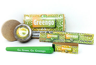 Greengo- Grinder - King Size Papers- Classic Papers- Joint tube an Box set