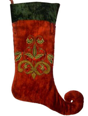 Unique Red Jester Christmas Stocking