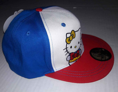 Hello Kitty Hat Red Whtie and Blue Sport Cap 40th Anniversary Adj Strap NEW! f1b8a3af5494
