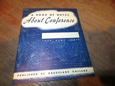 Book Of Notes About Conference By Graceland College