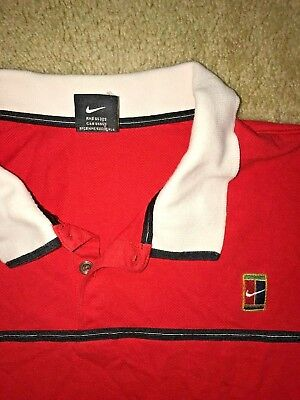 Vintage Nike polo / rugby Shirt red Mens size M