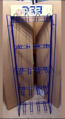 Pez~20 Hook Hanging Rack w/Header~Authentic~Holds 64 Carded Pez~BRAND NEW IN BOX