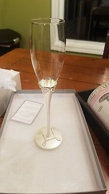b61a1ce7e1a New THINGS REMEMBERED STAINLESS, Everlast LOVE Toasting flutes glasses - 2