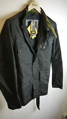 Barbour Men's International Wax Scrambler Jacket, New With Tags, Black, Small