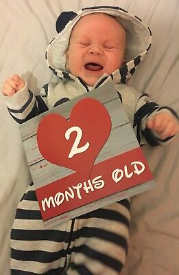 Baby Photo Prop Cards Baby Shower Gift Mum To Be Gift Babies First Year Memories