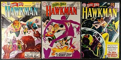 The Brave and the Bold #35, #36, #44 Early Hawkman Set! Nice Condition! DC 1961