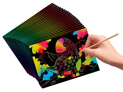 VHALE 30 Sheet Scratch Art Paper for Kid Drawing Painting Writing Doodling Craft