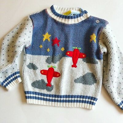 Vintage Airplane Toddler Sweater 2T