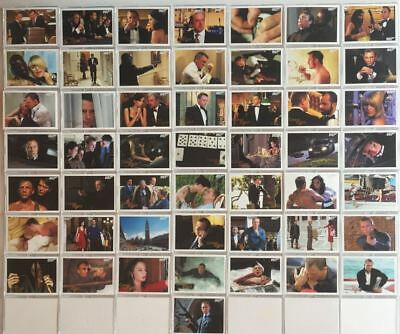 James Bond Archives 2014 Edition Casino Royale Gold Parallel Card Set 99 Cards