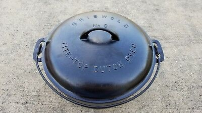 Griswold #9 Cast Iron Tite Top Dutch Oven & Lid