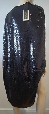 GIAMBATTISTA VALLI PARIS Black Silk Sequin Embellished Evening Cape 42 UK10 BNWT