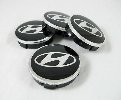 4 Pcs Set New Aluminum Center Hub Caps 60/56 mm. For HYUNDAI Alloy Wheel Rims