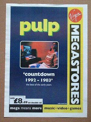 PULP - Countdown 1992 - 1983 the early years - 1996 music advert - 16 x 12 - A3