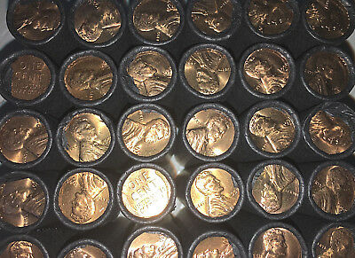 Radient Uncirculated Wheat Penny Roll Us Coin Collection Estate Sale Rare Cent