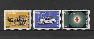 FINLAND 1967 Red Cross Fund, mint set of 3, MNH MUH