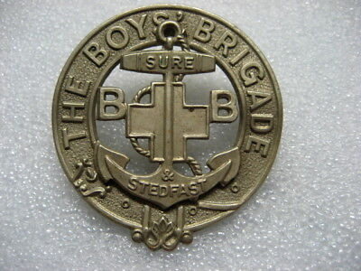 .British Cap Badge THE BOYS' BRIGADE,Sure & Stedfast