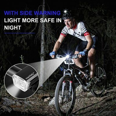 Front Head Light Headlight Lamp Rear Tail Flashlight Torch LED Bike Light Set TF