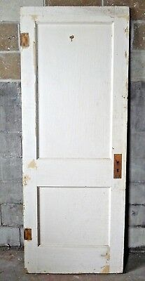 Antique Craftsman Style Two Panel Door   C. 1910 Fir Architectural Salvage