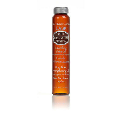 Hask Smoothing Shine Oil - Keratin Protein - 18ml - Alcohol-free - Hair