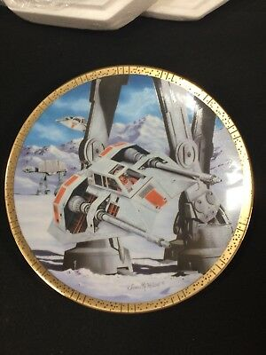 Star Wars Hamilton Collection Space Vehicles Snowspeeders Plate