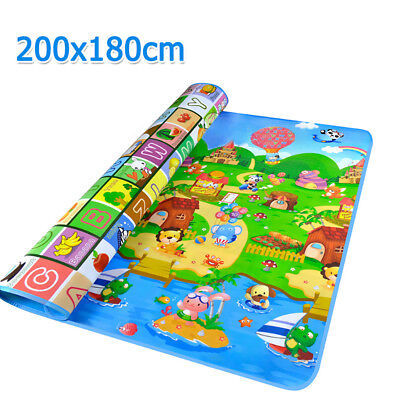 2mx1.8m Baby Kids Floor Play Mat Rug Picnic Cushion Crawling Mat Waterproof XXL