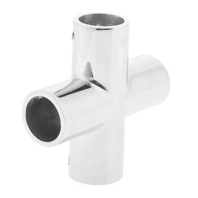 Boat Marine-Grade 316 Stainless Steel 4 Way Hand Rail Fitting 22mm 7/8 Inch