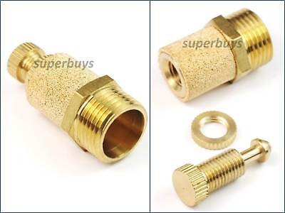 "3/8"" BSP Adjustable Brass Pneumatic Silencer Muffler Exhaust Valve Fitting Vent"