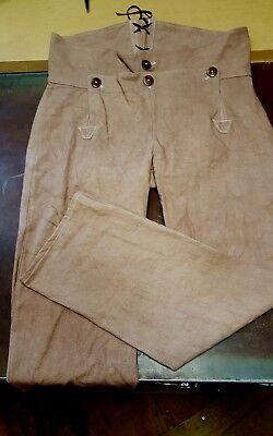 Broadfall Britches for fur trade re-enactments. Sz. 34 waist, dyed canvas