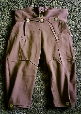 Broadfall Knee Britches for fur trade re-enactments. Sz. 40 waist, brown duc