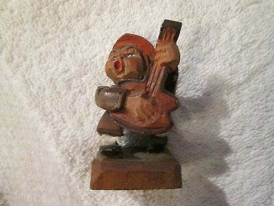 Vintage Antique Anri ? Carved Italian Wood Figurine German Black Forest ? Boy